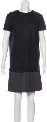 Brunello Cucinelli Wool & Silk-Blend Mini Dress