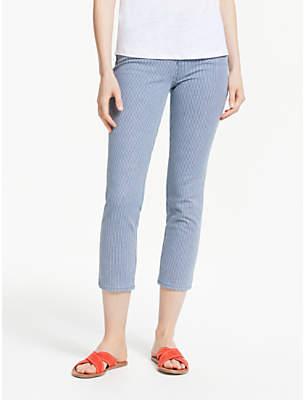 Boden Cambridge Stripe Jeans, Blue/White
