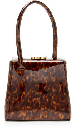 Little Liffner Mademoiselle Printed Patent Leather Top Handle Bag