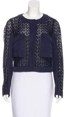 Prada Crochet Long Sleeve Jacket