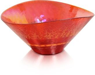 Murano Yalos Tango - Orange Swirl Glass Bowl
