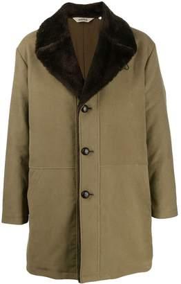 Aspesi oversized collar single-breasted coat
