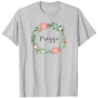 Preggo tshirt - Funny Floral pregnancy announcement t shirt