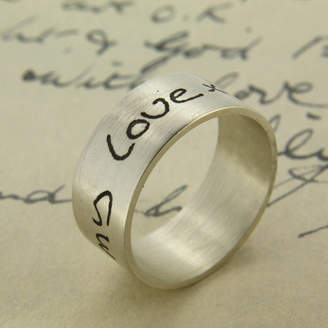 Nicola Crawford Your Own Handwriting Personalised Ring