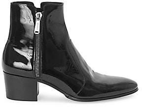 Balmain Men's Fitz Patent Leather Boots