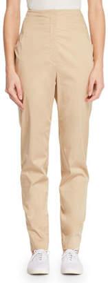 The Row Keith High-Waist Straight-Leg Pants