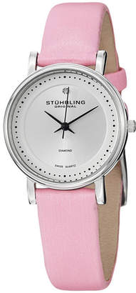 Stuhrling Original Womens Pink Strap Watch-Sp13076