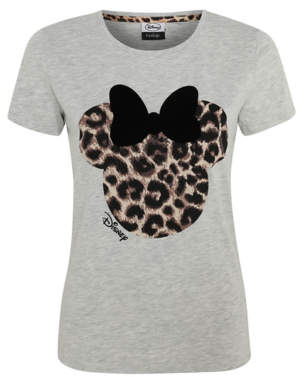 Disney Minnie Mouse Animal Print Graphic Top