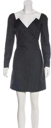 Givenchy Silk-Blend Long Sleeve Dress w/ Tags Black Silk-Blend Long Sleeve Dress w/ Tags