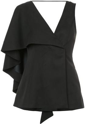 Valery Kovalska asymmetric-sleeve blouse