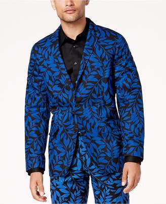 INC International Concepts I.N.C. Men's Slim-Fit Leaf-Print Blazer, Created for Macy's
