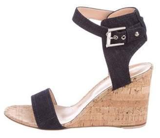Gianvito Rossi Denim Ankle-Strap Sandals