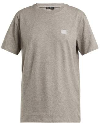 Acne Studios Nash Face Cotton Jersey T Shirt - Womens - Grey