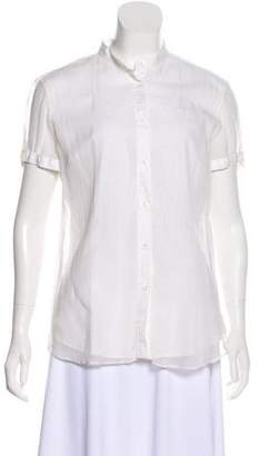 Brunello Cucinelli Short Sleeve Button-Up Top