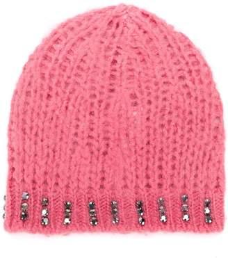 Pinko embellished knit beanie