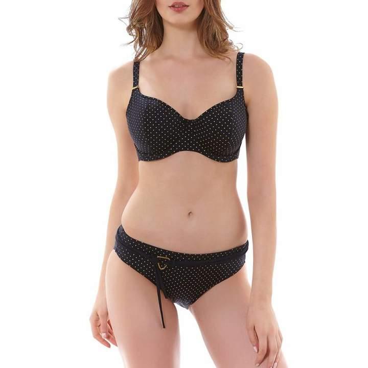 Black Sagittarius Underwired Sweetheart Padded Bikini Top