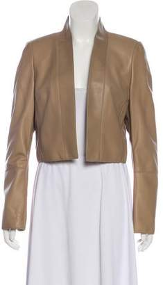 Akris Leather Cropped Jacket