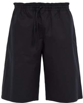 Bottega Veneta Drawstring Waist Cotton Blend Shorts - Mens - Black