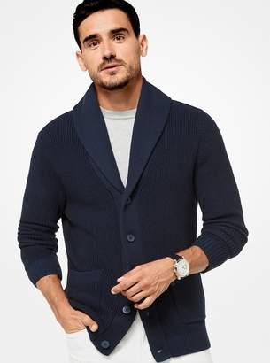 Michael Kors Cotton-Blend Knit Cardigan