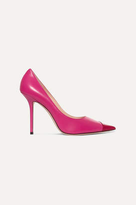 Jimmy Choo Love 100 Two-tone Matte And Patent-leather Pumps - Pink