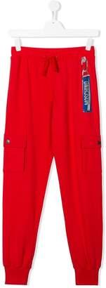 Moschino Kids TEEN printed logo sweatpants