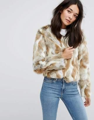 Urban Code Urbancode Faux Fur Patchwork Coat