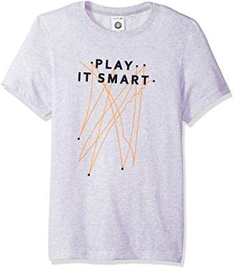 Lacoste Men's Short Sleeve Jersey Tech with Play It Smart Graphic T-Shirt