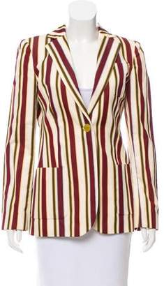 Loro Piana Striped Button-Up Blazer
