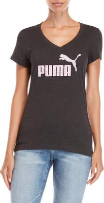 Puma Zebra Logo V-Neck Tee