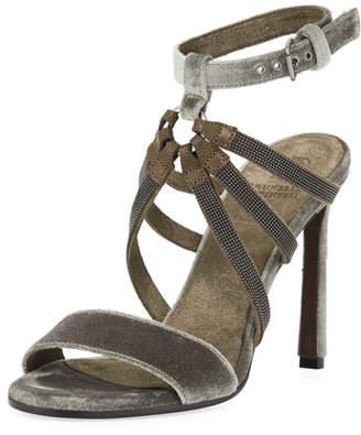 f38eb9b2e Brunello Cucinelli Heel Strap Women s Sandals - ShopStyle