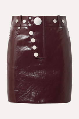 Alexander Wang Patent-leather Mini Skirt - Burgundy