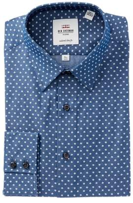 Ben Sherman Printed Twill Slim Fit Dress Shirt
