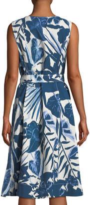 Lafayette 148 New York Karizza Floral Zip-Front Midi Dress