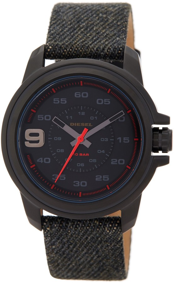 DieselDiesel Men's Sprocket Analog Denim Strap Watch