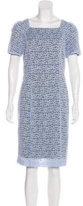 Nina Ricci Knee-Length Lace Dress