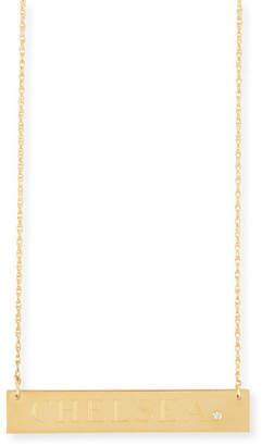 Jennifer Zeuner Jewelry Harley Personalized Diamond Bar Necklace