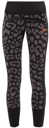 adidas by Stella McCartney Believe This Comfort Leopard Print Leggings - Womens - Black Print