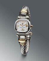 David Yurman Brown Faceステンレススチール&スターリングシルバー腕時計