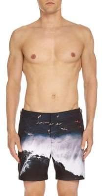 Orlebar Brown Catching Falls Photo Swim Trunks