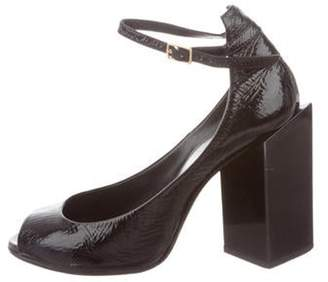 Pierre Hardy Patent Leather Peep-Toe Pumps Black Patent Leather Peep-Toe Pumps