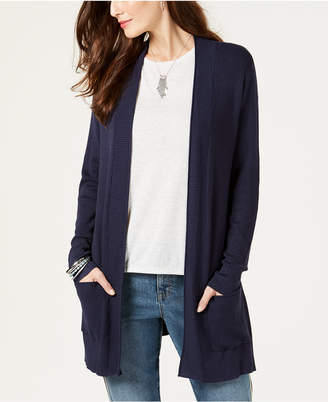 Style&Co. Style & Co Petite Waffle Thermal Long Cardigan