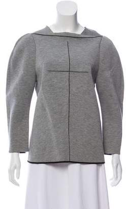 Balenciaga Long Sleeve Zip-Up Sweatshirt
