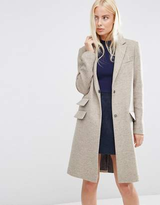 ASOS Wool Blend Slim Coat With Pocket Detail $113 thestylecure.com