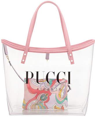 Emilio Pucci Large PVC Logo Tote Bag