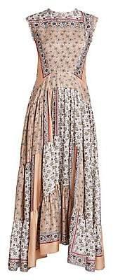Chloé Women's Patchwork Bandana Print Silk Maxi Dress