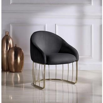 Chic Home Vivienne Velvet Upholstered Half-Moon Accent Chair