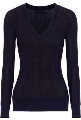 J Brand Allie Ribbed Pima Cotton-Blend Sweater