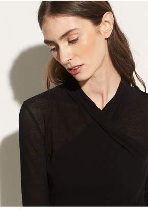 Vince Long Sleeve Wrap Front