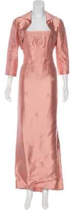 Teri Jon Embellished Maxi Dress Set