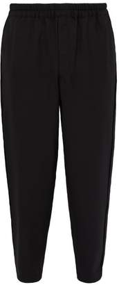 Comme des Garcons Tapered Twill Trousers - Mens - Black